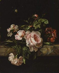 William van Aelst, Group of Flowers, 1675 (source).
