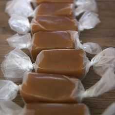 Homemade Caramels - Just made these today. Great recipe to use for caramel apples, too! Candy Recipes, Sweet Recipes, Dessert Recipes, Just Desserts, Delicious Desserts, Yummy Food, Homemade Candies, Homemade Caramels, Bbq Dessert