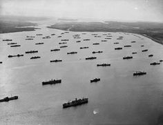 April 1, 1943: Convoy in Bedford Basin, Nova Scotia / Convoi dans le bassin de Bedford (Nouvelle Écosse) - Convoys from Canada helped to escort merchant vessels across the Atlantic to maintain a supply route between Britain and North America.
