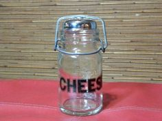 Vintage Wheaton Glass Cheese Shaker Jar by TeaLightedTeacups