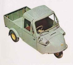 Japanese Famous Tiny-Commercial Car Daihatsu Midjet MP4 (1960)