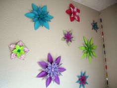 My DIY paper wall flowers.