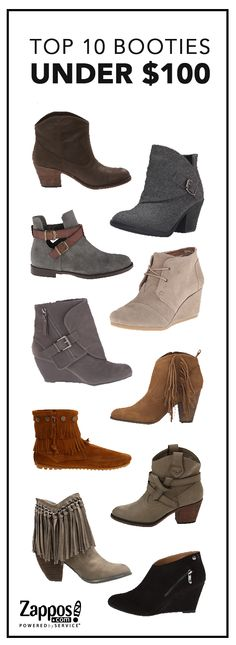 Get the must-have fall accessory on a budget! Booties blend fashion and comfort to complete any outfit. Wedges, flats, block heels - find your perfect style at Zappos.