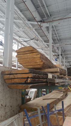 werkplaats Piet Hein Eek. Gezaagde boom.
