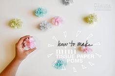 How to Make Mini Tissue Paper Poms