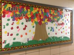 Back to School music bulletin board. Fall back in love with music! Classroom Tree, Classroom Bulletin Boards, Music Classroom, Classroom Ideas, Music Teachers, Music Education, Thanksgiving Bulletin Boards, Teacher Bulletin Boards, Fall Bulletin Boards