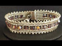 Kristalli Hasır Bileklik - YouTube Beaded Jewelry, Beaded Bracelets, Beads, Bracelets, Tutorials, Manualidades, Jewlery, Pearl Jewelry, Bead Jewelry