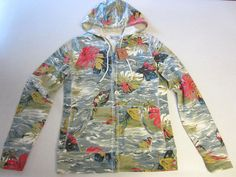 Lucky Brand Jacket M Medium Multi Color Leaves Hoodie NEW #LuckyBrand #Hoodie