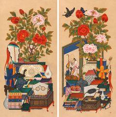 김애란 ─ 책가도 (118×58×2ea)。.jpg