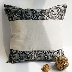 Onitiva - [Romantic Date] Linen Patch Work Pillow Cushion Floor Cushion (19.7 by 19.7 inches)