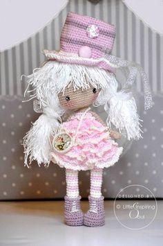 Mesmerizing Crochet an Amigurumi Rabbit Ideas. Lovely Crochet an Amigurumi Rabbit Ideas. Crochet Kawaii, Cute Crochet, Crochet Crafts, Crochet Projects, Crochet Doll Pattern, Crochet Patterns Amigurumi, Amigurumi Doll, Knitted Dolls, Crochet Dolls