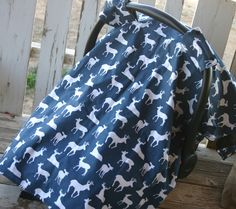 navy and white deers with gray minky canopy cover with or without opening by SqueakyBugBabies on Etsy Canopy Cover, Navy And White, Baby Car Seats, Trending Outfits, Gray, Children, Unique, Clothes, Vintage