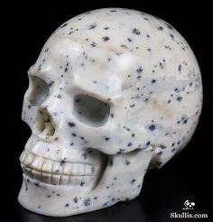 Dalmatine carved crystal skull