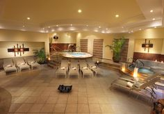 Shot of the Hydrotherapy area in the Spa at the Moon Palace Family All Inclusive Resort.
