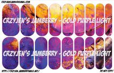 Gold Purple Light