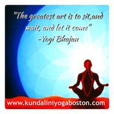Join us in our new location at 14 Arrow St in Harvard Square!  Yogi Bhajan Quote Kundalini Yoga Kundalini Yoga Boston