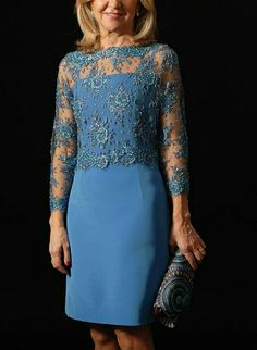 Modest Dresses, Short Dresses, Formal Dresses, Elegant Outfit, Elegant Dresses, Mom Dress, Lace Dress, Dress Brokat, Mother Of Groom Dresses