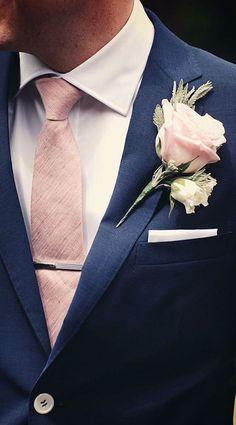 Wedding Suits Men Navy Rose Boutonniere 50 Ideas For 2019 Wedding Themes, Wedding Colors, Wedding Events, Weddings, Budget Wedding, Wedding Ideas, Best Wedding Suits, Trendy Wedding, Glamorous Wedding