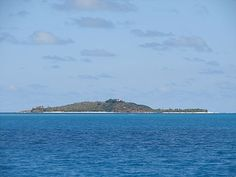 Photograph of Necker Island from sea