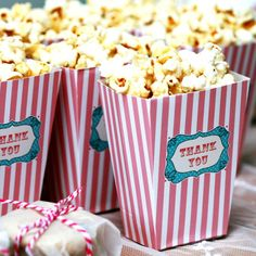 Pretty Unique Party Products and Wedding Favours and Decorations. Find more wedding favour ideas here raspberrywedding. Wedding Cd, Wedding Sweets, Boho Wedding, Wedding Ideas, Cookie Wedding Favors, Bridal Shower Favors, Popcorn Favors, Popcorn Boxes, Raspberry Wedding