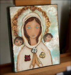 Special Custom Listing for Isabel  Mixed Media by FlorLarios