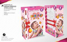PORTFÓLIO DESIGN GRÁFICO EMBALAGEM Arte para embalagem Bebebela da Brinquedos ZAP Serviço: Criação logotipo da embalagem, Ilustração, Mockup 3D.