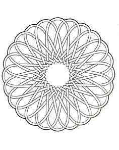 Difficult Mandalas For Adults