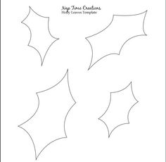 Holly Leaves Template   Natale - craft   Pinterest   Template ...
