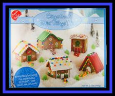 NEW! ***GINGERBREAD MINI VILLAGE KIT *** NIP Really Cute!!Ready to assemble and decorate. Make this wonderful holiday village come to life and create a family tradition, too.  Decorate 5 Gingerbread houses.