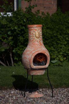 Sol Clay Chimenea in Copper