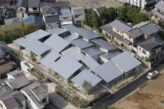 """妹島和世の設計による京都の大宮西野山の集合住宅""""NISHINOYAMA HOUSE""""の写真。 © iwan baan all photos"""