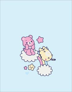 care bear x pusheen All credits go to who ever first uploaded this pic Pusheen Love, Pusheen Cat, Cute Wallpapers, Wallpaper Backgrounds, Iphone Wallpaper, Bear Wallpaper, Kawaii Wallpaper, Care Bears, Cat Design