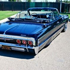Black 1964 Convertible Lowrider Love the licence plate Chevy Ss, Chevy Girl, Convertible, Pedal Cars, Us Cars, Chevrolet Impala, My Ride, Custom Cars, Vintage Cars