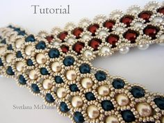 PDF tutorial beaded bracelet 8mm 6mm pearl- seed bead by BeadsMadness on Etsy https://www.etsy.com/listing/190033843/pdf-tutorial-beaded-bracelet-8mm-6mm