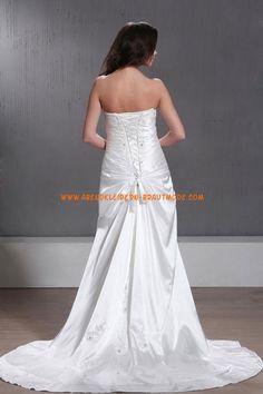 A-linie Bodenlange Schöne Brautkleider aus Taft mit Stickerei