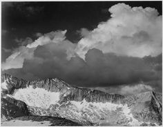 Clouds over White Pass, Kings River Canyon, California by Ansel Adams