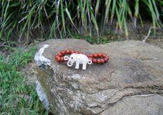 Silver Rhinestone Elephant & Red  $6.00 BR160
