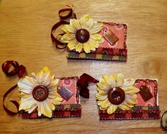 Sunflower gift tags