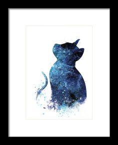 #watercolor #kitchendecor #cat #bluecat #catpaintings