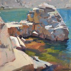 "Daily Paintworks - ""Not An Island"" - Original Fine Art for Sale - © Carol Marine"