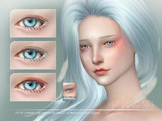 Eyeliner with white lash, and eyeshadow for you, 3 colors inside, all age, hope you like, thank you. Found in TSR Category 'Sims 4 Female Eyeliner'