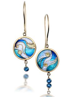 Waves Earrings - reference: shades of blue