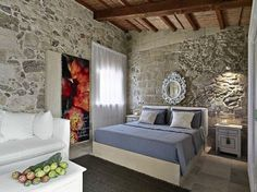 The Relais Masseria Capasa is a stunning hotel located in Martano, Italy. Originally constructed in the century, the property was renovated by Paolo Fracasso in Photos courtesy of the Relais Masseria Capasa Share your Thoughts Decor, Interior Decorating, Interior, Awesome Bedrooms, Leather Sleeper Sofa, Home Decor, Woman Bedroom, Rustic Italian Decor, Interior Design