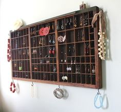 Reclaimed Printers Drawer Jewelry Display