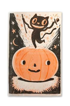 Products – The Fantasmical World of Rhode Montijo Halloween Mignon, Spooky Halloween, Holidays Halloween, Halloween Decorations, Kawaii Halloween, Vintage Halloween Cards, Halloween Pictures, Halloween Illustration, Cute Illustration
