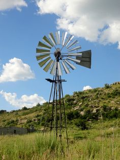 Windmill on a farm in Clarens, South Africa