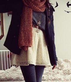 Adorable autumn outfit