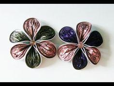 DIY: Flor reciclada de pétalos rugosos con cápsulas Nespresso para broche o colgante - YouTube