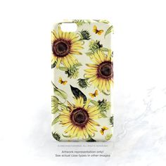 iPhone 7 Case Sunflower iPhone 7 Plus iPhone 6s by HelloNutcase