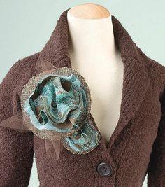 Big Beautiful Fabric Flower Pin: Apparel Fabric Projects: Shop | Joann.com